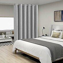 BONZER Leinen-Optik Raumteiler-Vorhang mit