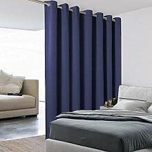 BONZER Raumteiler-Vorhang, blickdicht, Wandbreite,
