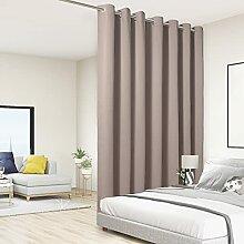 BONZER Raumteiler-Vorhang, totale Privatsphäre,