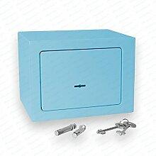 Bonzus® Minisafe Minitresor Safe Mini Safe Tresor Wandsafe Geldschrank Geldkassette BZ1 (Sparpaket 4 Stück blau)