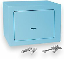 Bonzus® Minisafe Minitresor Safe Mini Safe Tresor Wandsafe Geldschrank Geldkassette BZ1 (blau)