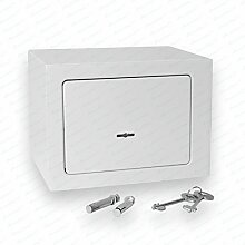 Bonzus® Minisafe Minitresor Safe Mini Safe Tresor Wandsafe Geldschrank Geldkassette BZ1 (Sparpaket 4 Stück silbergrau)