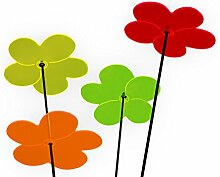Boog Lichtspiel Sonnenfänger, Blumenquartett, rot / orange / zitron / grün, 20.2 x 24 x 5 cm, LSS44