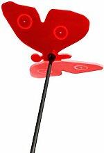 Boog Lichtspiel Sonnenfänger, Schmetterling mit Schwingstab, rot, 20.2 x 24 x 8 cm, SL01