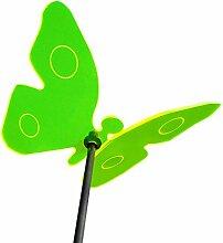 Boog Lichtspiel Sonnenfänger, Schmetterling sonnengelb mit Schwingstab, grün, 20.2 x 24 x 8 cm, SL04