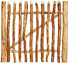 BOOGARDI Gartentor Haselnuss · Höhe: 100 cm · Breite: 100 cm · 7 Größen · Zauntor für Staketenzaun / Bauernzaun / Kastanienzaun inkl. Zubehör