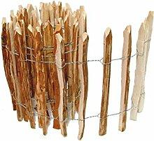 BOOGARDI Kastanienzaun in 14 Größen · Staketenzaun Kastanie Natur Roll-Zaun aus Haselnuss · 60 x 500 cm ( Lattenabstand 3-5 cm )