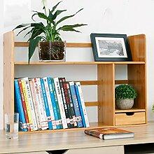 Book Jia bücherregale Bücherregal / Desktop-kreatives Bücherregal / kleines Bücherregal / Regal / Desktop-Speicher ( Farbe : 1 , größe : 58*19*46CM )