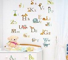 Bookshelf  Wandsticker, Motiv Buchstaben, verschiedene Farben