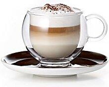 BOOL Cappuccinotasse aus Glas
