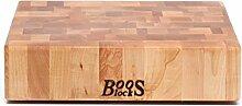 Boos Blocks Hackblock Stirnholz, 31x31x8 cm,