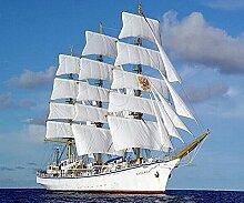 Boot Diamant Malerei 5D DIY Weiß Segelboot Voll