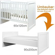 BOPITA Babyflex Babybett / Jugendbett Weiß 60x120cm/90x200cm 30313511