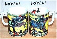BOPLA! RIDER (Grundfarbe gelb) Serie Asia MAXI TASSE Häferl Serie Asia - MUG - MAXI TAZZA - MAXI CUP - MAXI TAZA 0,3 l, 10-1/2 fl. oz. Reiter Ritter Einzelgewicht: 302g - Geeignet für alle heißen und kalten Getränke. Ihre Geschenk-Idee zum Sammeln. Platzsparend stapelbar. In verschiedenen Dekoren und Farbvariationen zur Auswahl