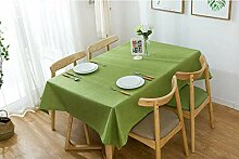 Boqingzhu Tischdecke Gartentisch Eckig Grün 140 x
