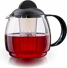 Boral Glas Teekanne Mikrowellenkanne 1,8L mit