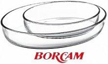 Borcam-Set Backform Glas Auflaufform Servierform
