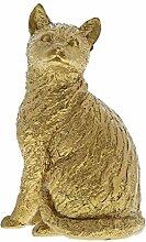 Border Fine Arts Studio Gold Cat Sitting Figur