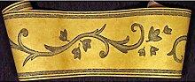 Bordüre klassisch Ranken Design gelb grau