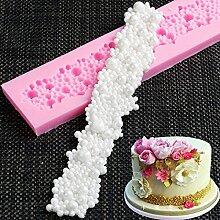 Bordure Fleur Moule en silicone Fondant Moule