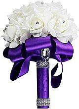 Borlai Brautstrauß künstliche Blumen Hochzeit