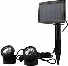 Borlai Solarenergie Licht 12Led Doppelkopf
