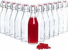 Bormioli Glasflaschen mit Bügelverschluss