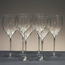 BORMIOLI LUIGI Set von 6 Glaskelche herrlichen xl CL70 Glas Weinglas und Kelch