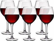 Bormioli Premium Weinglas, transparent Set 6, durchsichtig, 47 cl