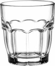 Bormioli Rocco 517530 Rock Bar Wasserglas, Glas, 6