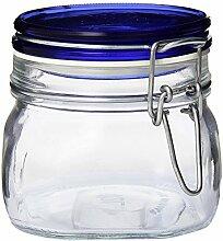 Bormioli Rocco Fido Quadratisches Glas mit blauem