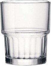 Bormioli Rocco Lyon Wasserglas 210 ml, stapelbar,