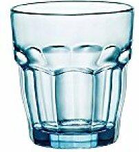 BORMIOLI ROCCO Set 6 Gläser Rockbar Cl27 Blauen Glas Felsen Glas Weinglas Und Kelch