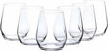 Bormioli Rocco Wasserglas, Glas, Transparent, 8,4X