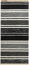Born in Sweden - Teppich Tom, 80 x 160 cm, (dunkelgrau / hellgrau / weiß / schwarz)