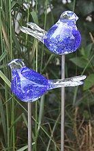 Bornhöft 2er Set Gartenstecker Glasvogel Deko