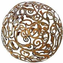 Bornhöft Barock Gartenkugel 30cm Metall Rost