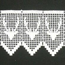 Borte Spitzenborte Hirsch weiß 11cm