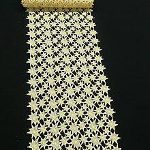 Borte Spitzenborte Tischläufer Sterne goldfarbig