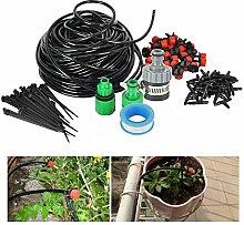 Boruit 25m DIY Automatik Micro Drip Bewässerung Kit 30 Drippers Garten Gewächshaus Bewässerung Spray Self Watering Kits