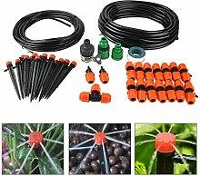 BORUIT DIY 10 M Dual Path Automatisch Drip Bewässerungssystem Kits 360° Rotary Düse Bewässerung Spray Self Watering Kits für Garten Landschaf