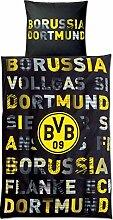 Borussia Dortmund Bettwäsche mit Schritftzug und