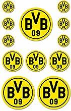 Borussia Dortmund BVB Aufkleber 12 Stück, Folie,