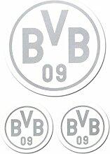 Borussia Dortmund BVB Aufkleber in Silber 3