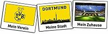 Borussia Dortmund BVB Aufkleber Polaroid 3 Stück,
