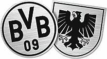 Borussia Dortmund BVB Aufkleber Wappen 2 Stück,