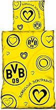 Borussia Dortmund BVB Bettwäsche mit Herzen,