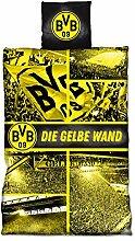 Borussia Dortmund BVB-Biber-Bettwäsche Gelbe Wand