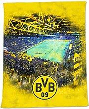 Borussia Dortmund BVB-Fleecedecke mit Stadionprint
