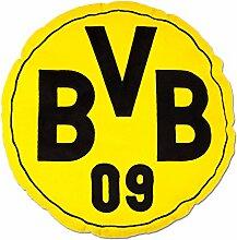 Borussia Dortmund BVB Kissen rund mit Emblem,